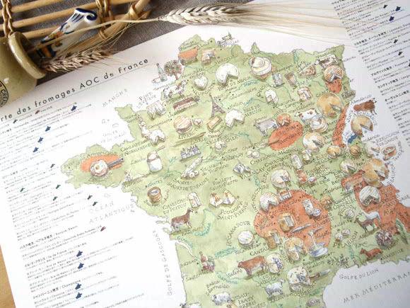 フランス フロマージュマップ チーズ地図