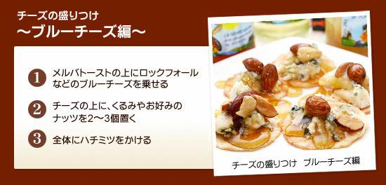 チーズの盛りつけ ~ブルーチーズ編~