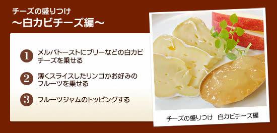 チーズの盛りつけ ~白カビチーズ編~