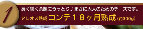 【アレオス熟成】コンテ18ヶ月熟成(約300g)