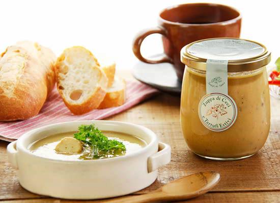 『黒トリュフ入りひよこ豆のスープ』