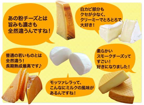 「あの粉チーズとは旨みも濃さも全然違うんですね!」「白カビ部分もクセが少なく、クリーミーでとろとろで大好き!」「普通の若いものとは全然違う!長期熟成最高です♪」