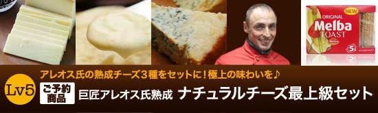 【ご予約商品】『巨匠アレオス氏熟成ナチュラルチーズ最上級セット』