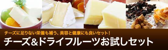 チーズ&ドライフルーツお試しセット