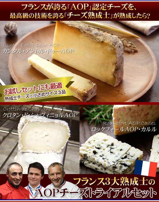 『フランス3大熟成士のAOPチーズトライアルセット』
