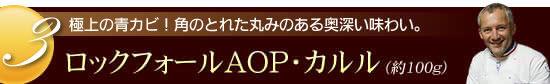 『ブルゴン熟成 ロックフォールAOP・カルル』(約100g)