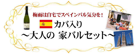●梅雨は自宅でスペインバルを!『カバ入り〜大人の家バルセット〜』