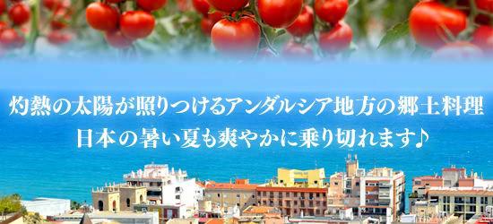 灼熱の太陽が照りつけるアンダルシア地方の郷土料理。日本の暑い夏も爽やかに乗り切れます♪