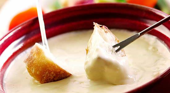 豆乳チーズフォンデュ