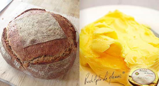 おおば製パンのカンパーニュとバターセット