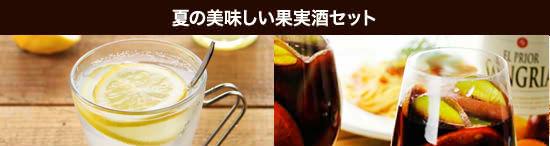 <夏の美味しい果実酒セット>