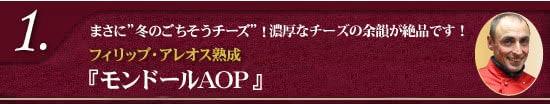 """【1】フィリップ・アレオス熟成『モンドールAOP』(リボン付き)まさに""""冬のごちそうチーズ""""!素敵なリボン付きでお届けします♪"""