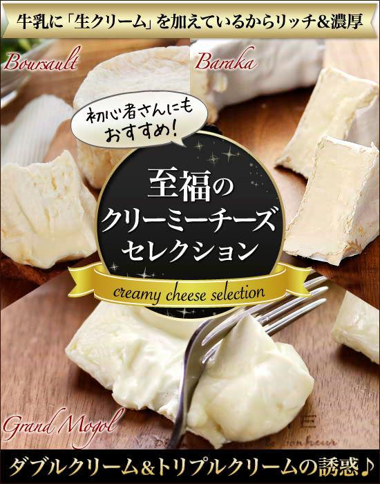 初心者さんにもおすすめ! 牛乳に「生クリーム」を加えているからリッチ&濃厚 ダブルクリーム&トリプルクリームの誘惑♪『至福のクリーミーチーズセレクション』