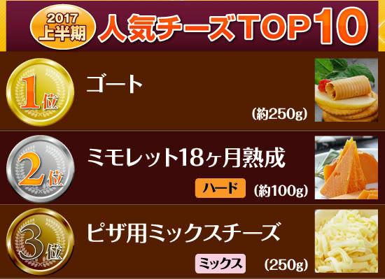 ■今年度のオーダーチーズ【人気チーズTOP10】