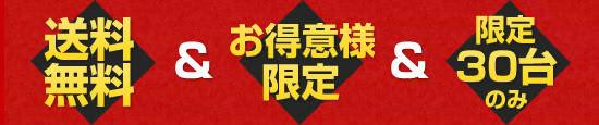 <送料無料>&<当店独占販売>&<限定100台のみ>